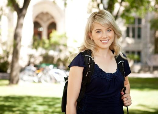 Happy University Girl